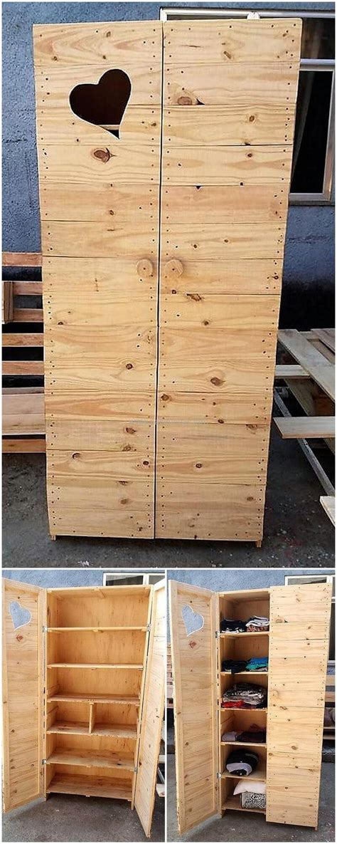 repurposed wood pallet closet diy ideas diy motive