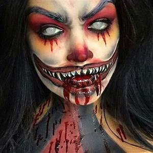 Scary Clown Halloween makeup | Pop Art & Costume Makeup ...