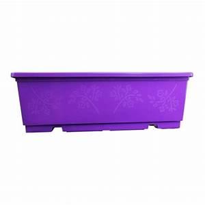 Jardiniere Plastique Gros Volume : jardini re balconni re violette pour fleurs et plantes ~ Dailycaller-alerts.com Idées de Décoration
