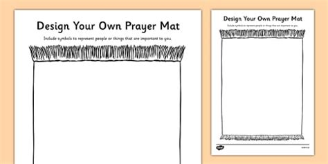 Religious Symbols And Beliefs Design A Prayer Mat Activity Re