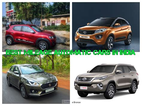 Cars In India by Best Mileage Automatic Cars In India Price And