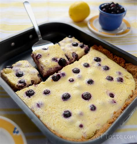 So you can enjoy this recipe for blueberry cobbler without ruining your diet. Lemon Blueberry Bars | Kitchen Nostalgia