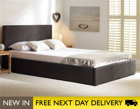king size ottoman bed emporia beds stirling ottoman 6ft king size charcoal