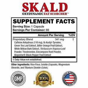 Skald First Fat Burner Weight Loss Pills With Repiratory Support