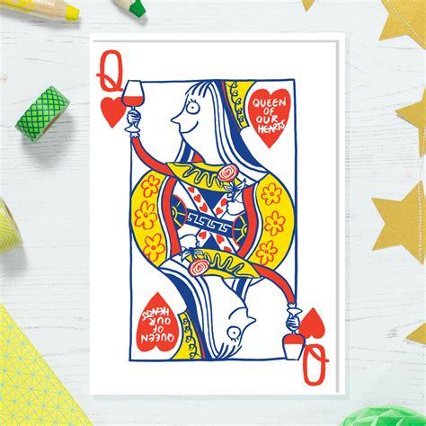 queen   hearts card  cardinky notonthehighstreetcom