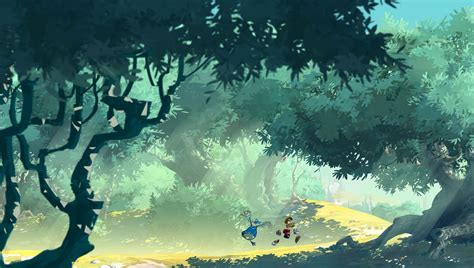 trees, forest, game wallpapers, road, game, rayman legends
