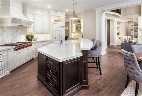 island kitchen and bath pros and cons of a 2 tier kitchen island casa