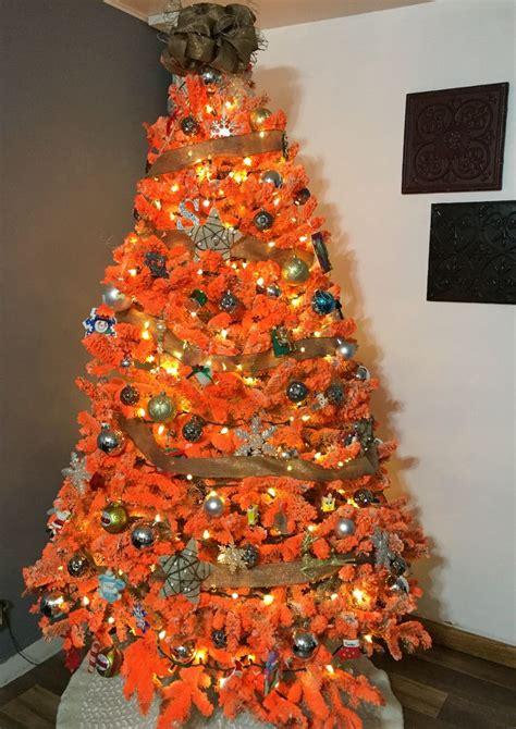 unique orange christmas tree ideas  pinterest