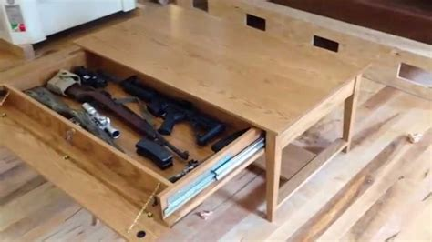 furniture great coffee table gun safe  active duty