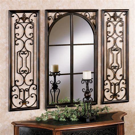 wall decor with mirrors provence bronze finish wall mirror set