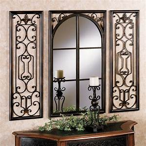 provence bronze finish wall mirror set With wall mirror decor