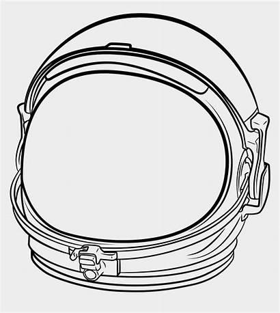 Astronaut Helmet Space Clipart Drawing Transparent Wonder