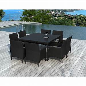 Table De Jardin Resine : table chaises de jardin en r sine castelli noir ~ Teatrodelosmanantiales.com Idées de Décoration