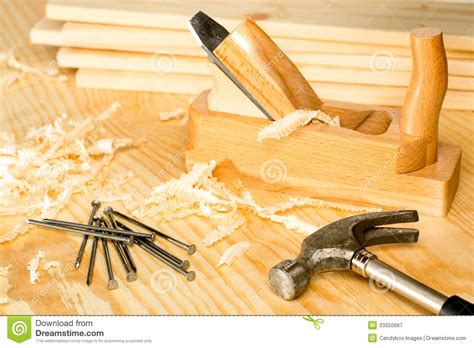 carpentery variety  woodwork tools royalty  stock