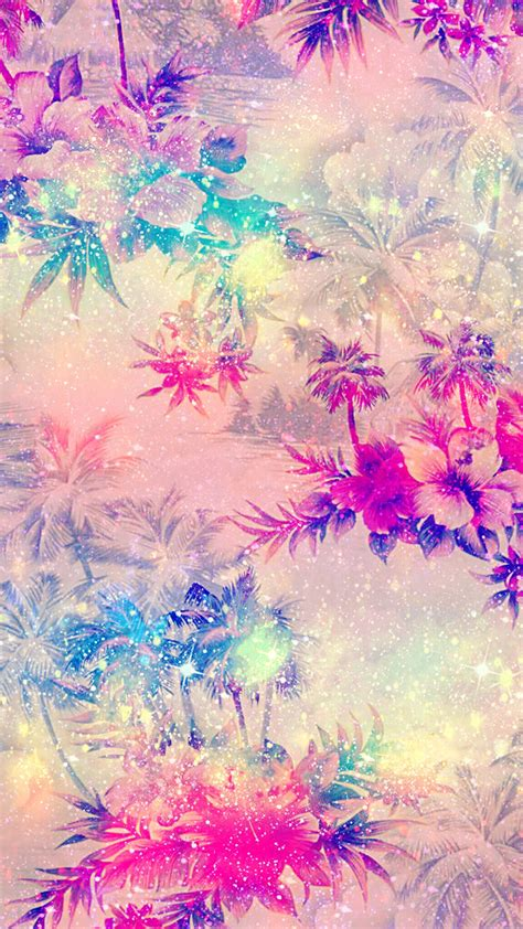 freetoedit glitter sparkle flowers tropical summer patt