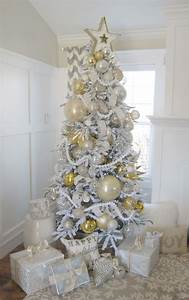 Home, By, Heidi, Silver, And, Gold, Christmas, Tree