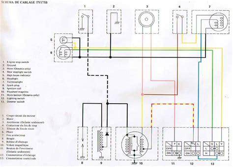 Yamaha R5 Wiring Diagram by My Motorcycle Restoration Diary Notes Ty175 Wiring Diagram