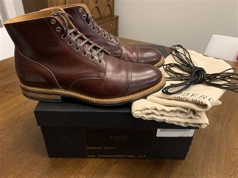 Viberg Service Boot, 2030, burgundy French calf, size 8 ...