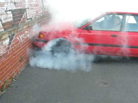 mazda protege 1993 burnout - YouTube