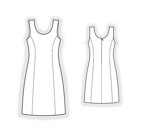 dress sewing pattern    measure sewing