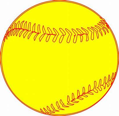 Softball Clipart Clip Transparent Background Yellow Vector