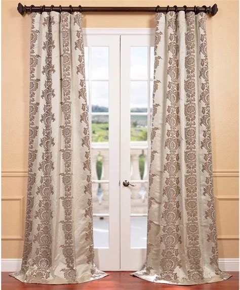 ivory faux silk surrey jacquard curtain panel