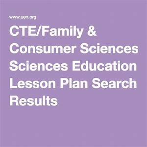 Great free lesson plans! Becky CTE/Family & Consumer ...