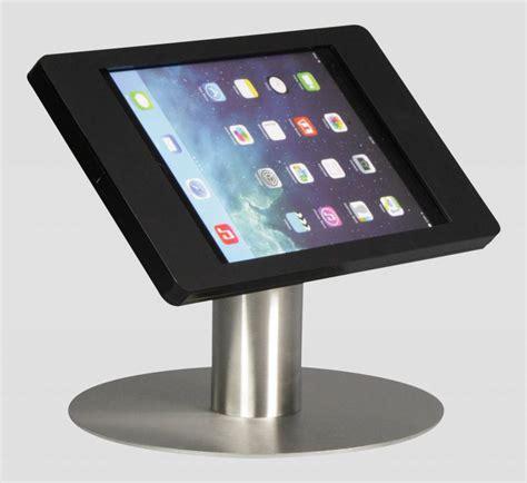 ipad kiosk table mount ipad mini desk stand fino black with stainless steel base