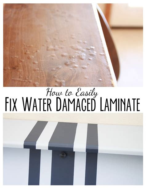 how to paint lines and fix water damaged laminate