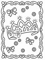 Crown Coloring Princess Pages Template Printables Printable Crowns Sheets Mandala Fresh Wuppsy Books Drawing sketch template