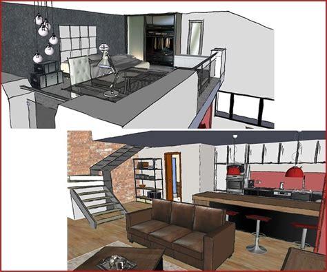 bureau style industriel aménagement d un studio avec mezzanine l 39 atelier de la