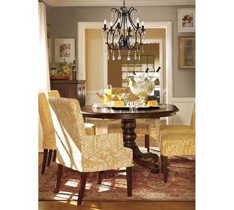 pottery barn dining room drapery panels for a gray dining room driven by decor