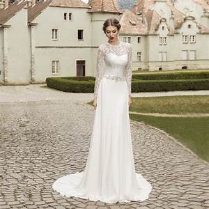 aliexpresscom buy vnaix fw004 elegant 2016 lace long With long sleeve white lace wedding dress