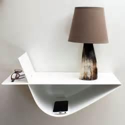 Le De Nuit Moderne by Chevet Suspendu Design Table Suspendue Chevet Mural Blanc