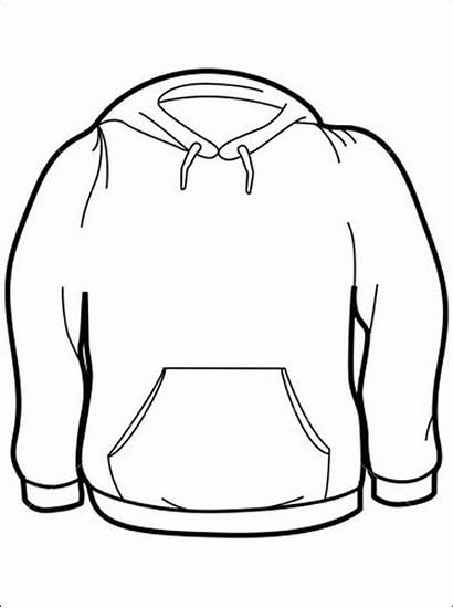 Coloring Sweater Kleurplaten Kleurplaat Hoodie Shirts Gratis