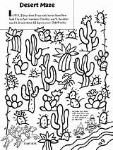 Coloring Desert Pages Maze Crayola Cactus Landscape Western Printable Sheets Biome Texas Drawing Google Colouring Activities Animals River Crafts Southwest sketch template