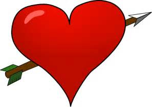 Valentine Heart Arrow Clip Art