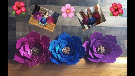 DIY Como hacer flores en Foami o Goma Eva Perfectas