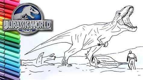 coloring page jurassic world fallen kingdom coloring page