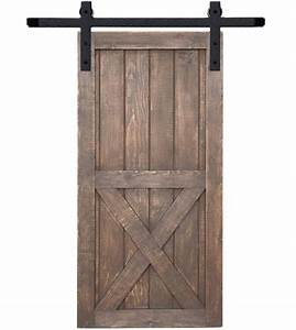 hammered steel barn door kit for 36 inch doors acorn With 36 inch barn door hardware