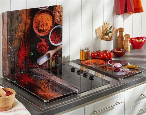 plaque protection cuisine murale crédence et couvre plaques décor épices becquet