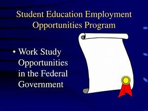 PPT - Student Education Employment Opportunities Program ...