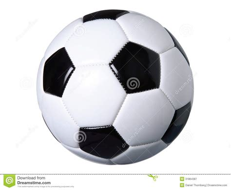 soccer ball isolated  white  clipping path stock