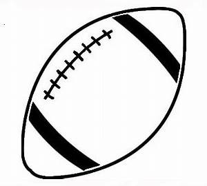 Football clipart football lace - Pencil and in color ...