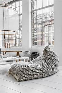 Pouf Geant Interieur : pouf g ant tricot et marocain l ments d co salon ou chambre enfant ~ Preciouscoupons.com Idées de Décoration