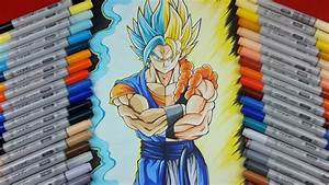 Drawing VEGITO SSj Blue vs GOGETA SSj | TolgArt - YouTube