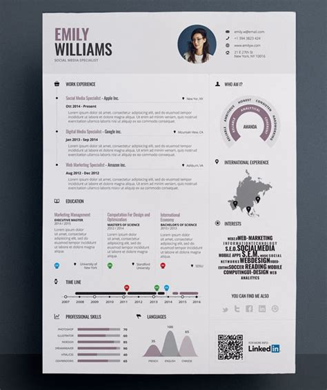 creative resume template free download psd templates 35 infographic resume templates free sle exle format download free premium templates