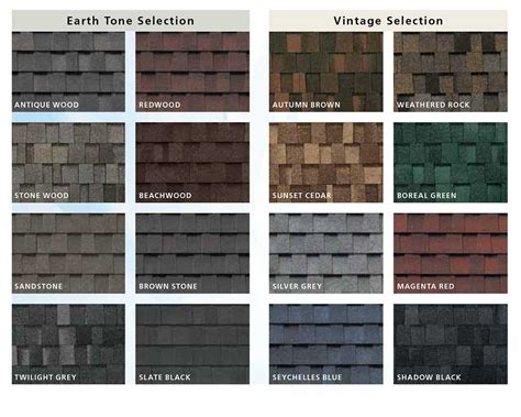 composite colors composite roof shingles color choice earth and vintage