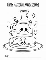Pancake Coloring National Colouring Pages Pancakes Crafts sketch template