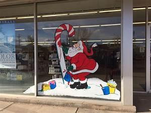 Christmas, Window, Painting, Of, Window, Splash, Santa, Painting, Candy, Cane, By, Runtske, Art